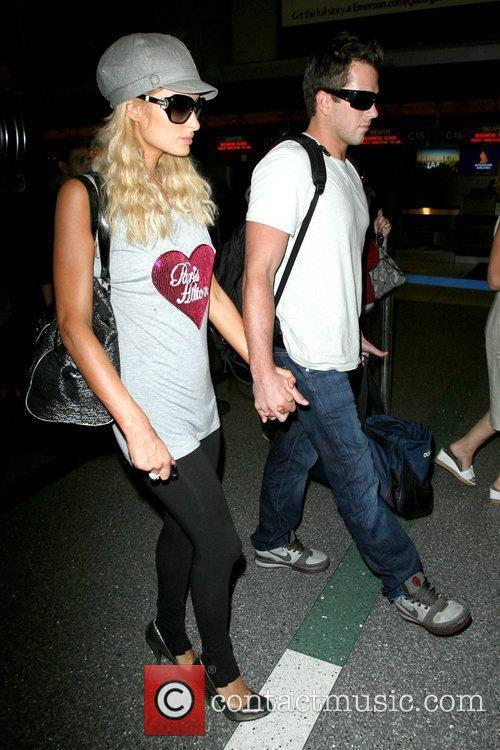 Paris Hilton, Wearing A T-shirt With Her Name On It and Doug Reinhardt 3