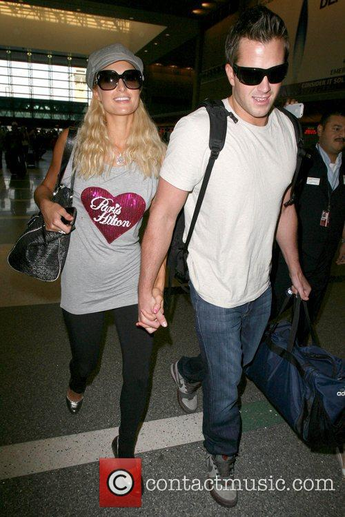 Paris Hilton, Wearing A T-shirt With Her Name On It and Doug Reinhardt 8