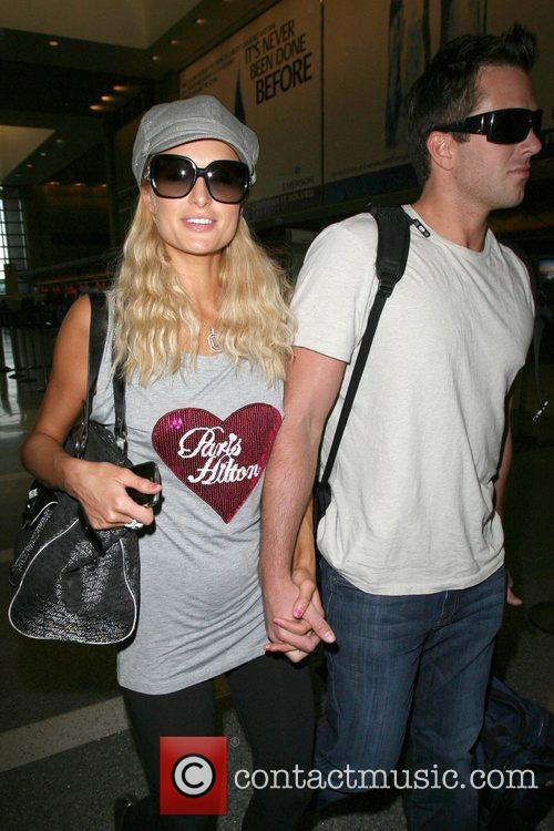 Paris Hilton, Wearing A T-shirt With Her Name On It and Doug Reinhardt 10