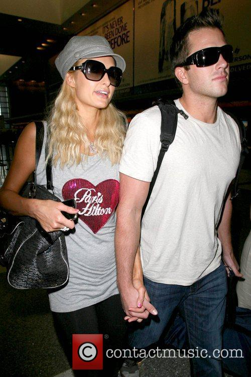 Paris Hilton, Wearing A T-shirt With Her Name On It and Doug Reinhardt 1