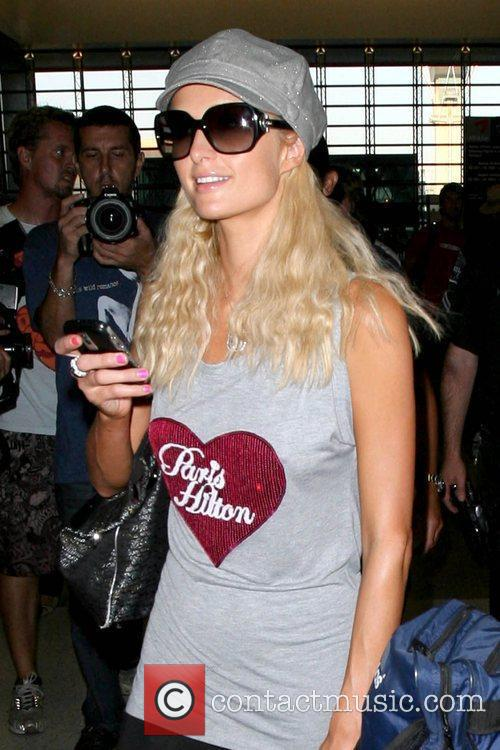 Paris Hilton and Wearing A T-shirt With Her Name On It 6