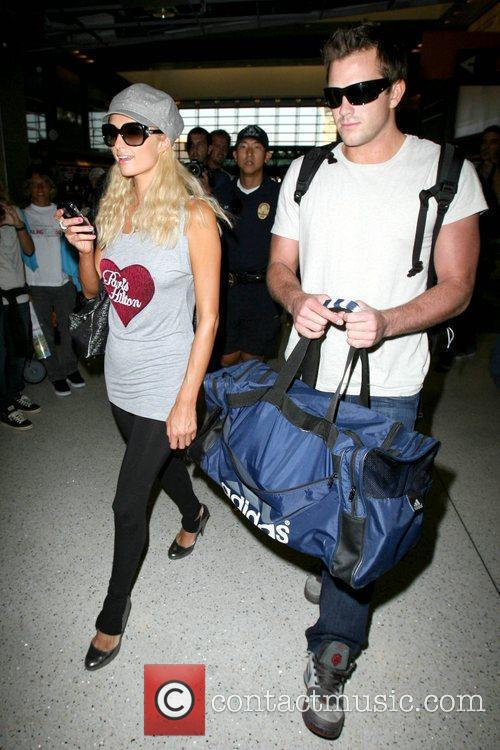Paris Hilton, Wearing A T-shirt With Her Name On It and Doug Reinhardt 7