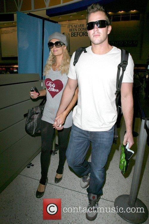 Paris Hilton, Wearing A T-shirt With Her Name On It and Doug Reinhardt 2