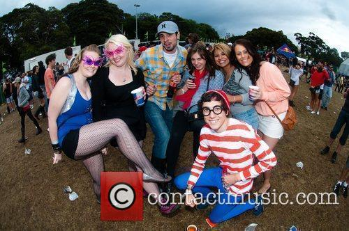 Fans at Parklife Music Festival in Moore Park...