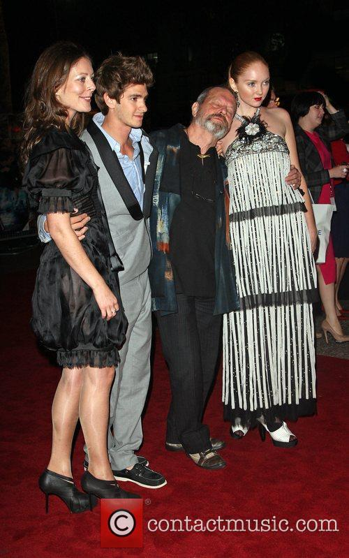 Amy Gilliam, Andrew Garfield, Terry Gilliam and Lily...