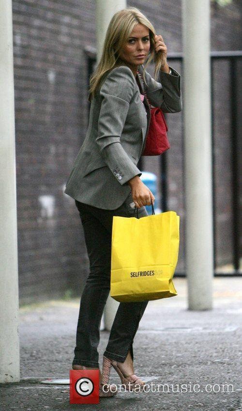 Patsy Kensit leaving the GMTV studios London, England