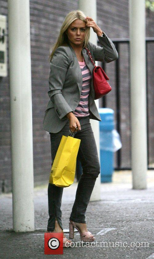 Patsy Kensit leaving the GMTV studios