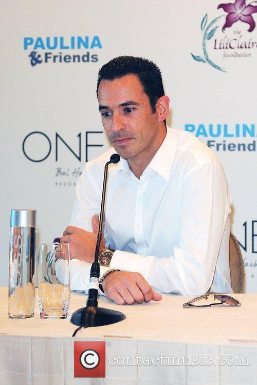 Helio Castroneves Press conference for the launch of...