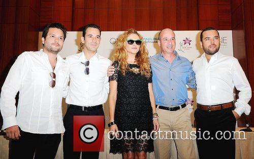 Juan Avevalo, Helio Castroneves, Paulina Rubio, Keith Pesnich,...