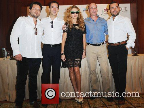 Press conference for the launch of Paulina Rubio's...