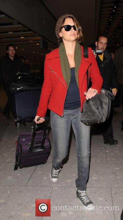 Penelope Cruz arriving at Heathrow Airport. London, England