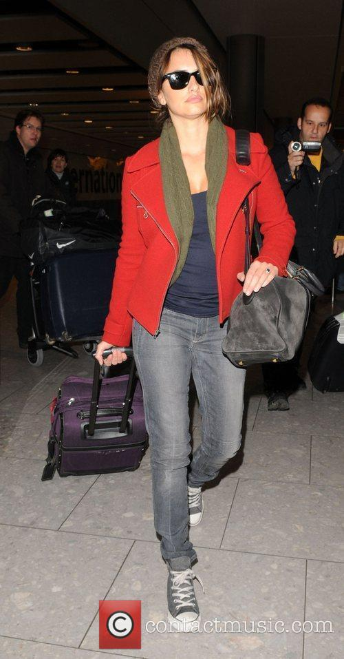 Arriving at Heathrow Airport.