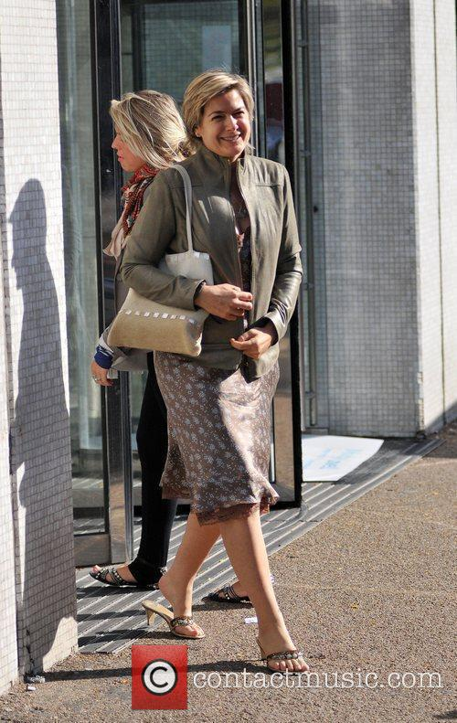 Penny Smith leaving the 'GMTV' studios London, England