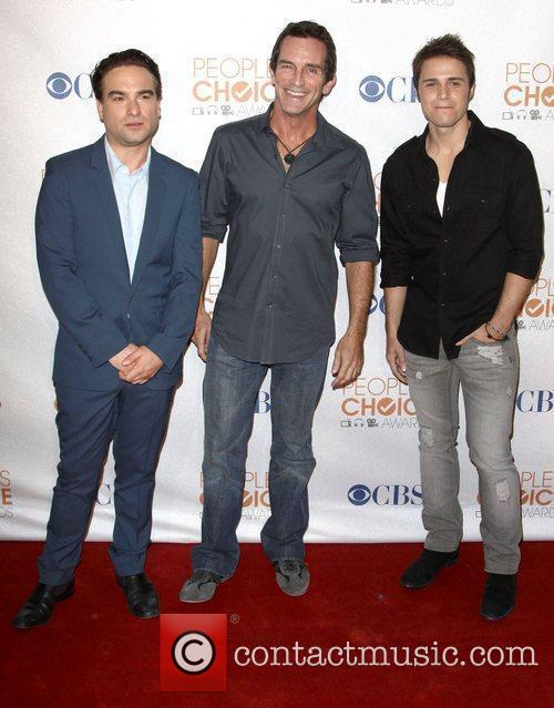 Jeff Probst, Mark Burnett and Kris Allen...