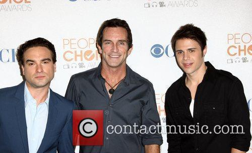 Johnny Galecki, Mark Burnett and Kris Allen...