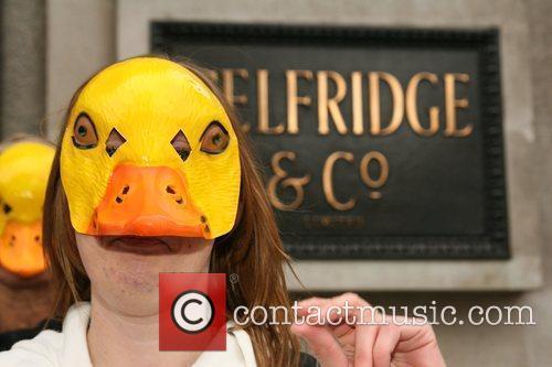 Peta Demonstrators Dressed As Ducks Protest Outside Selfridges Department Store Over The Store's Selling Of Foie Gras 2