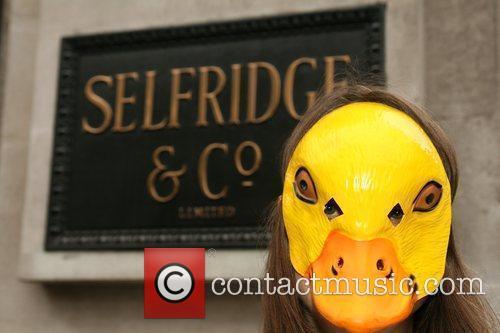 Peta Demonstrators Dressed As Ducks Protest Outside Selfridges Department Store Over The Store's Selling Of Foie Gras 6