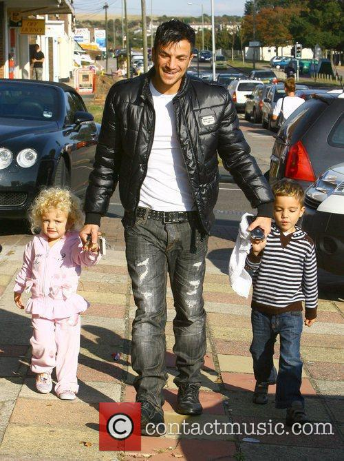 Peter Andre with his children Princess Tiaamii and...