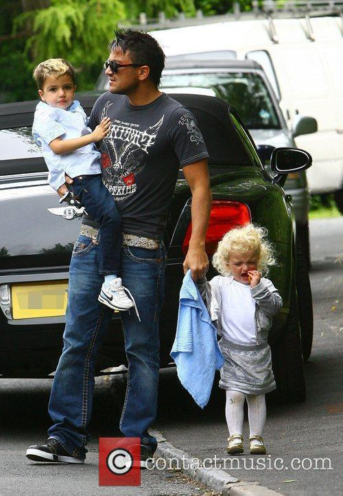 Peter Andre, with his children Princess Tiaamii and...