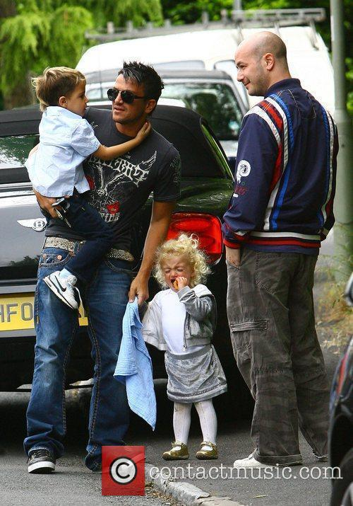 Peter Andre, With His Children Princess Tiaamii and Junior 9