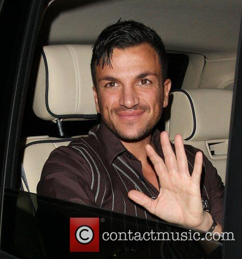 Peter Andre leaving the Hammersmith Apollo after attending...