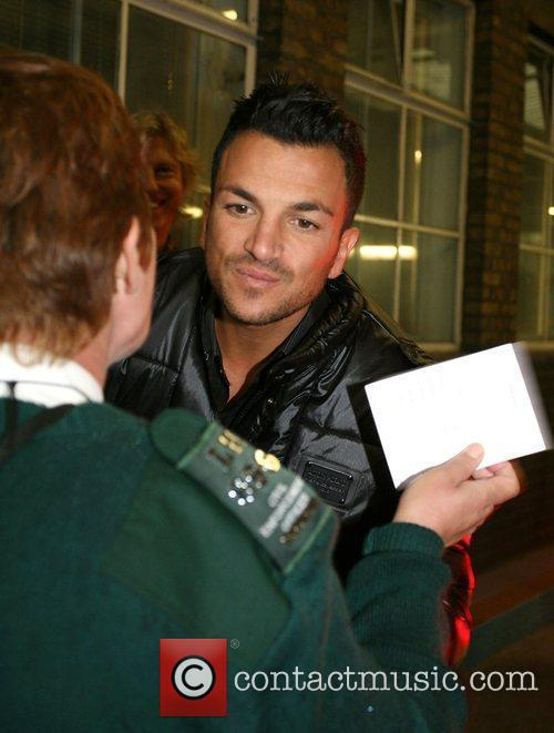 Peter Andre leaving the 'This Morning' studios London,...