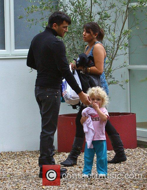Peter Andre leaving home with his nanny Nita...