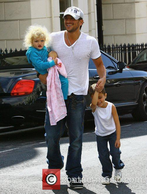 Peter Andre heading to Starbucks with his children...