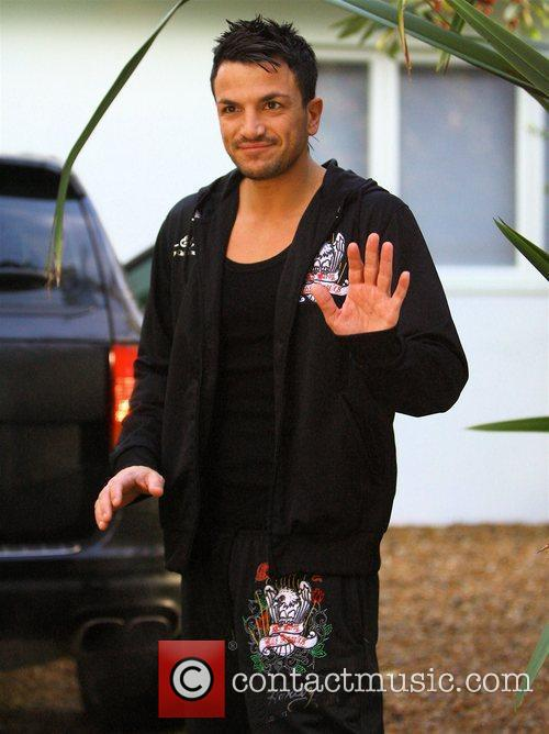 Peter Andre outside his house Brighton, England