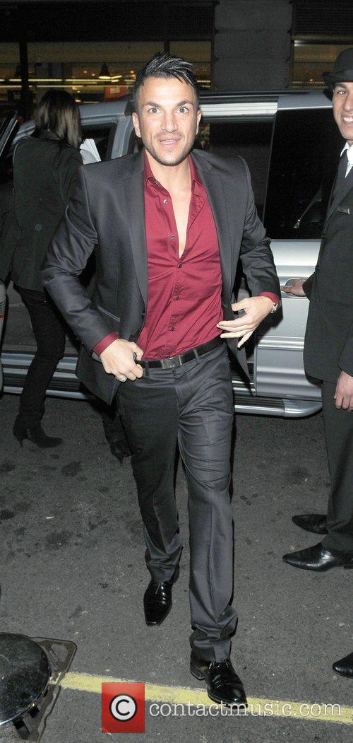 Peter Andre arriving at the May Fair hotel...
