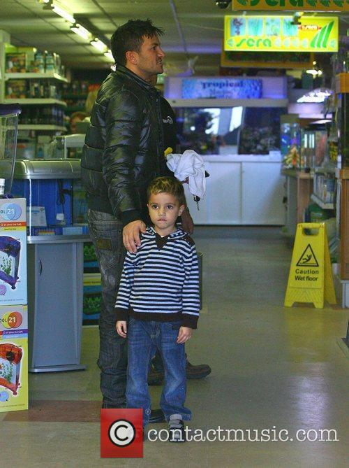 Peter Andre with his child Junior Savva Andrea...