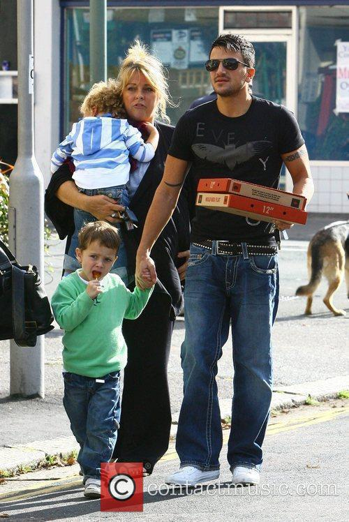 Peter Andre, with manager Claire Powell and her...