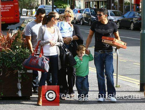 Peter Andre, with manager Claire Powell and model...