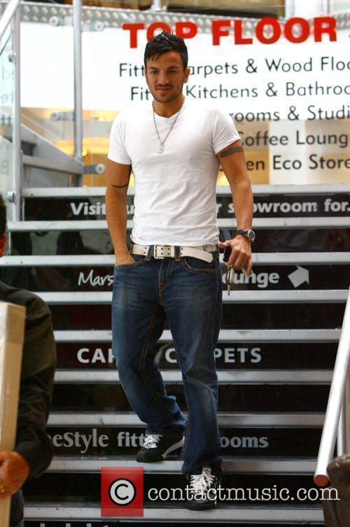 Peter Andre departing at a house in London...