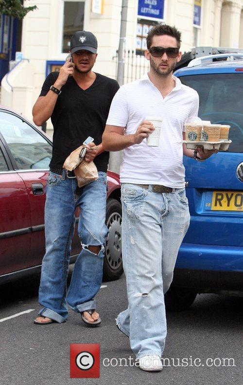 Peter Andre walks back to his car after...