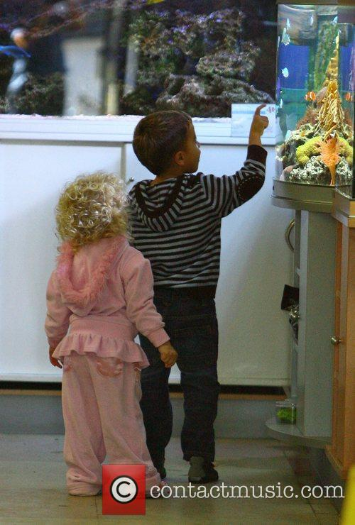 Peter Andre's children Princess Tiaamii and Junior Savva...