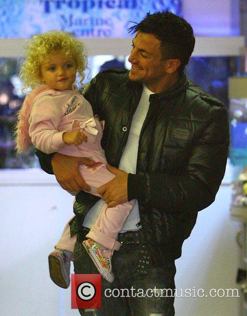Peter Andre with his child Princess Tiaamii...