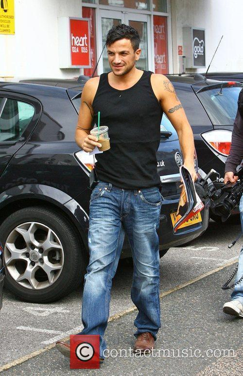 Peter Andre leaving Heart FM Hove, England