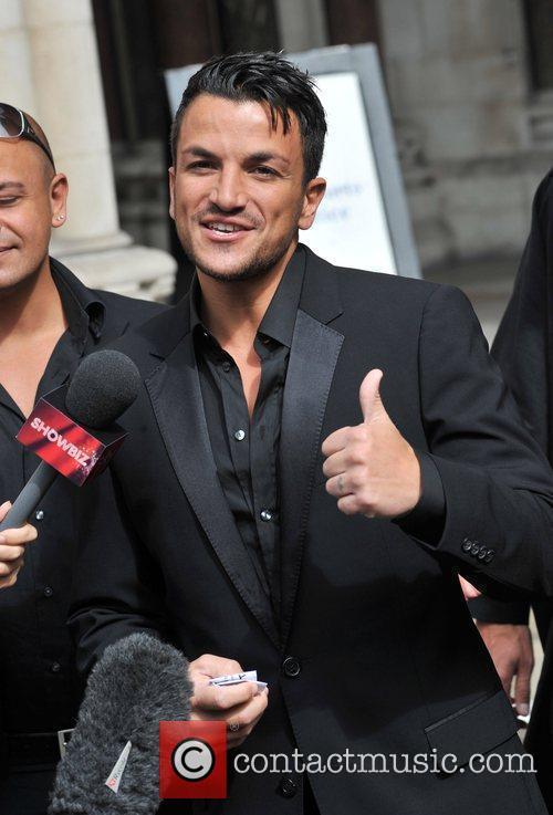 Peter Andre holds a press conference on the...