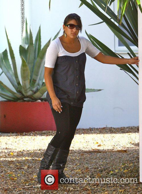 Peter Andre's nanny Nina outside his home. It...