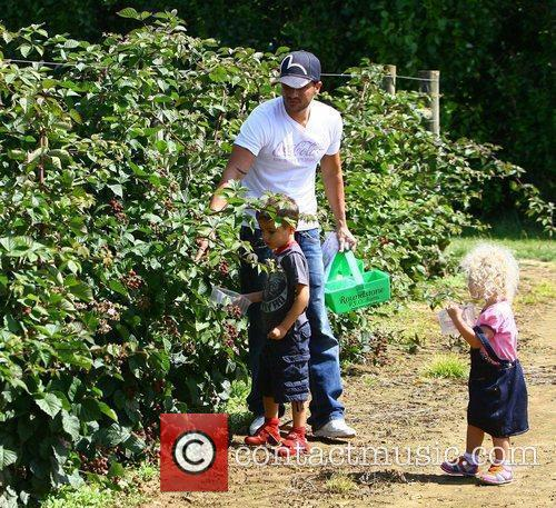 Peter Andre takes his children Junior and Princess...
