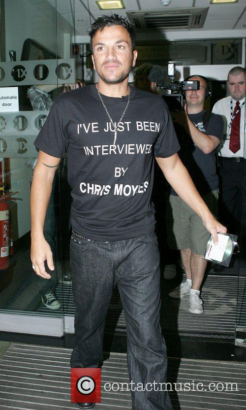 Leaving Radio One studios after promoting his new...