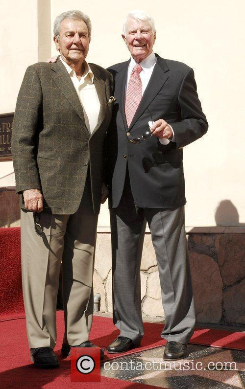 Mike Connors and Peter Graves Actor Peter Graves...