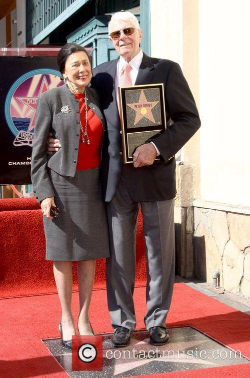Actor Peter Graves is honoured with a star...
