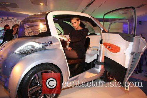 Lisa Butcher Peugeot BB1 concept car launch at...