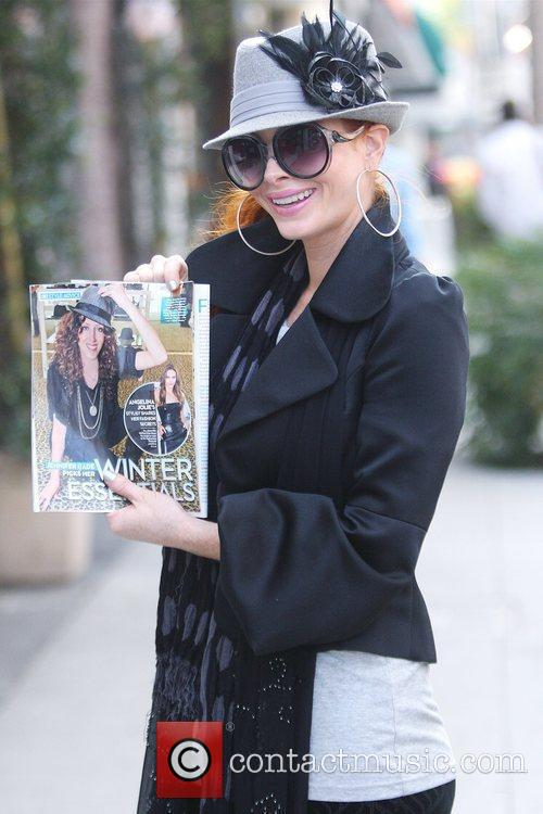 Phoebe Price shows a picture of her line...