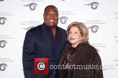 Former NFL football Player Rodney Peete with Wallis...