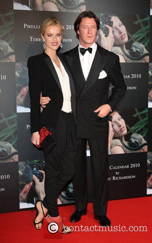 Eva Herzigova and Gregorio Marsiaj Launch of Pirelli...