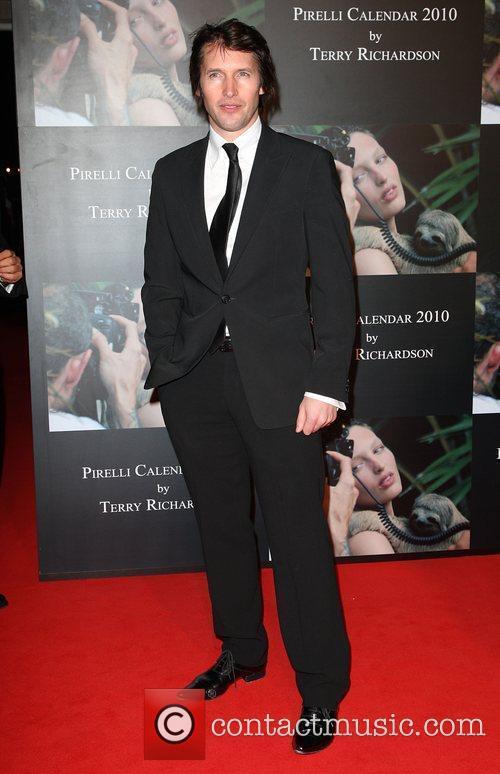 James Blunt Launch of Pirelli calender 2010 gala...