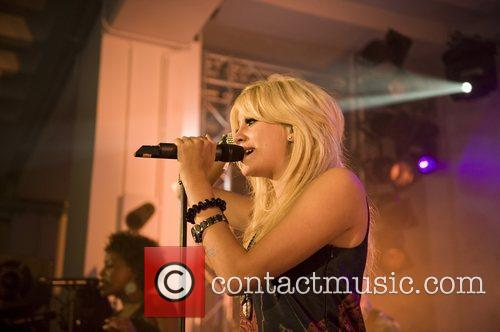 Performing live at her European album launch at...